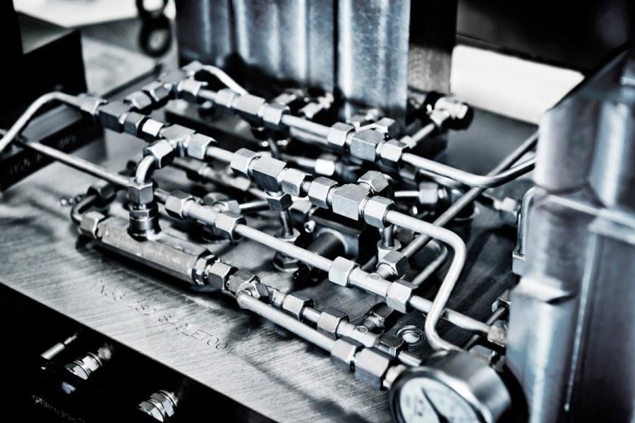 Nahaufnahme einer Maschine von SiTec